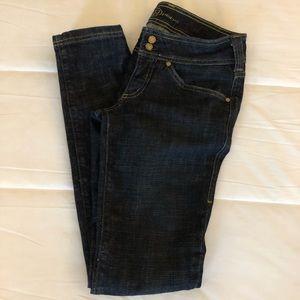 Bebe Dark Wash Skinny Jeans